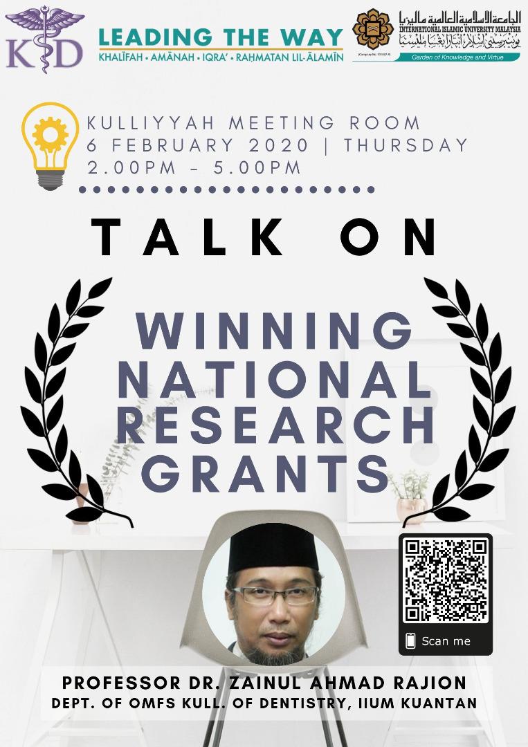 Talk on Winning National Research Grants