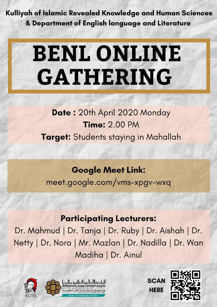 BENL Online Gathering