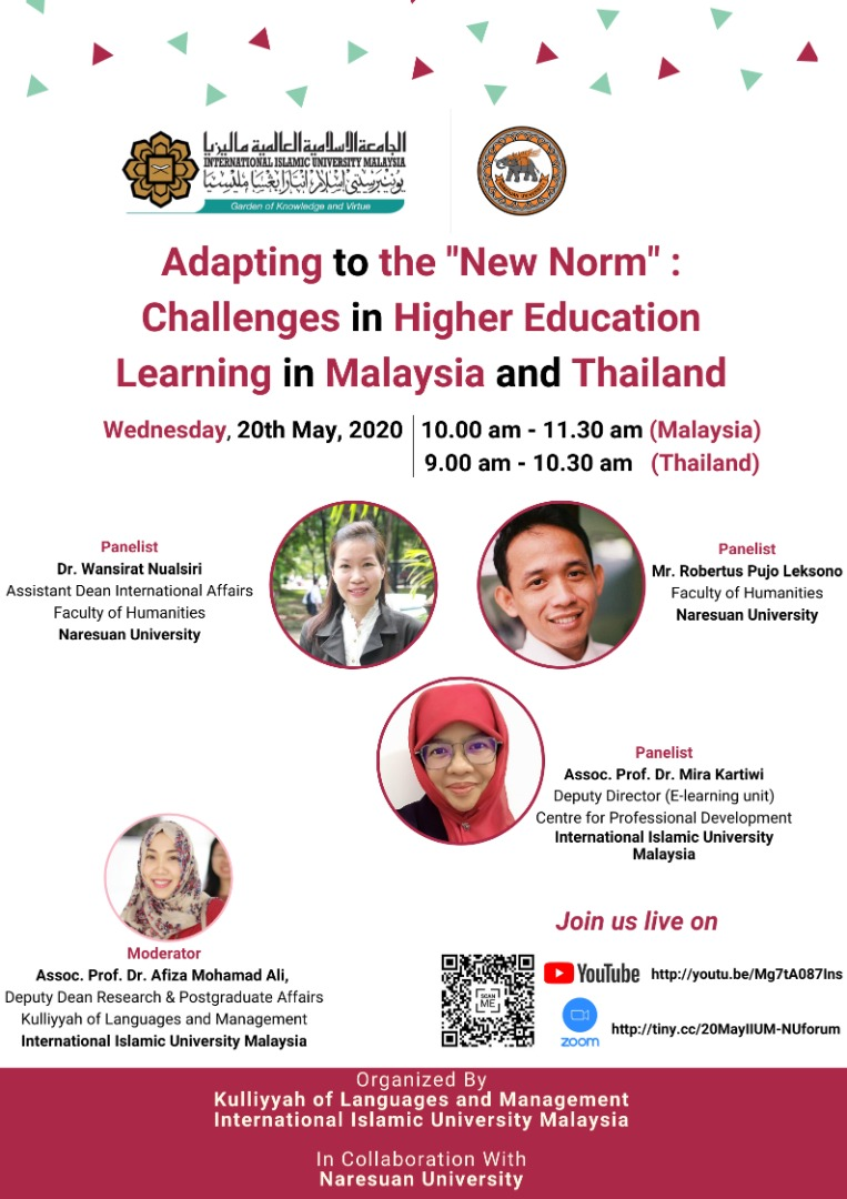 "Adapting to the ""New Norm"" : Challenge in Higher Education Learning in Malaysia and Thailand"