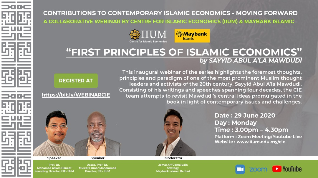 CONTRIBUTIONS TO CONTEMPORARY ISLAMIC ECONOMICS - MOVING FORWARD