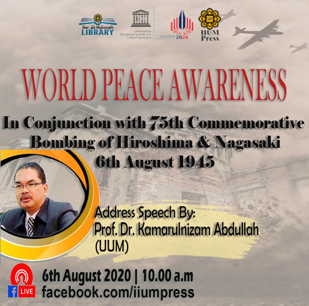 SPECIAL ADDRESS SPEECH ON WORLD PEACE AWARENESS