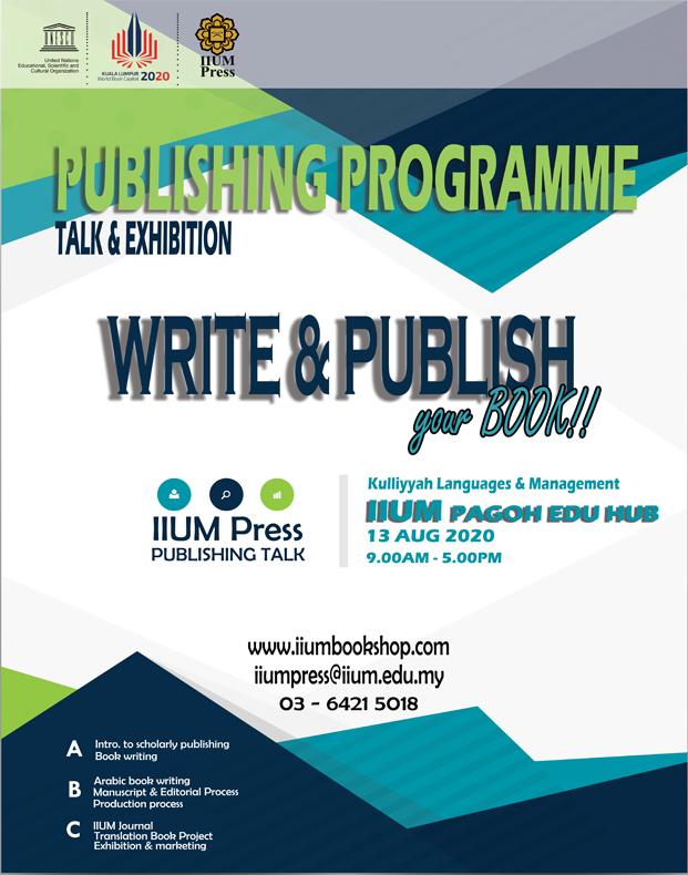 PUBLISHING PROGRAMME: WRITE & PUBLISH YOUR BOOK !!!