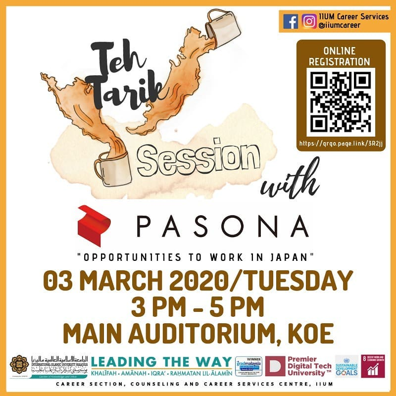 Teh Tarik Session with PASONA - Opportunities to Work in Japan