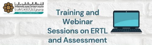 Training and Webinar Sessions on ERTL and Assessment
