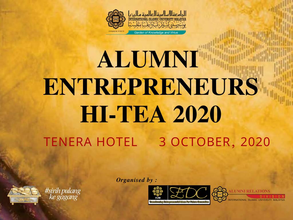 Alumni Entrepreneurs Hi-Tea 2020