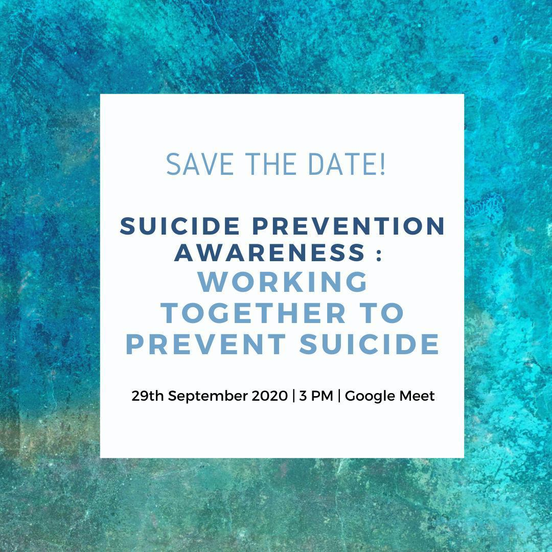 Suicide Prevention Awareness : working together to prevent suicide