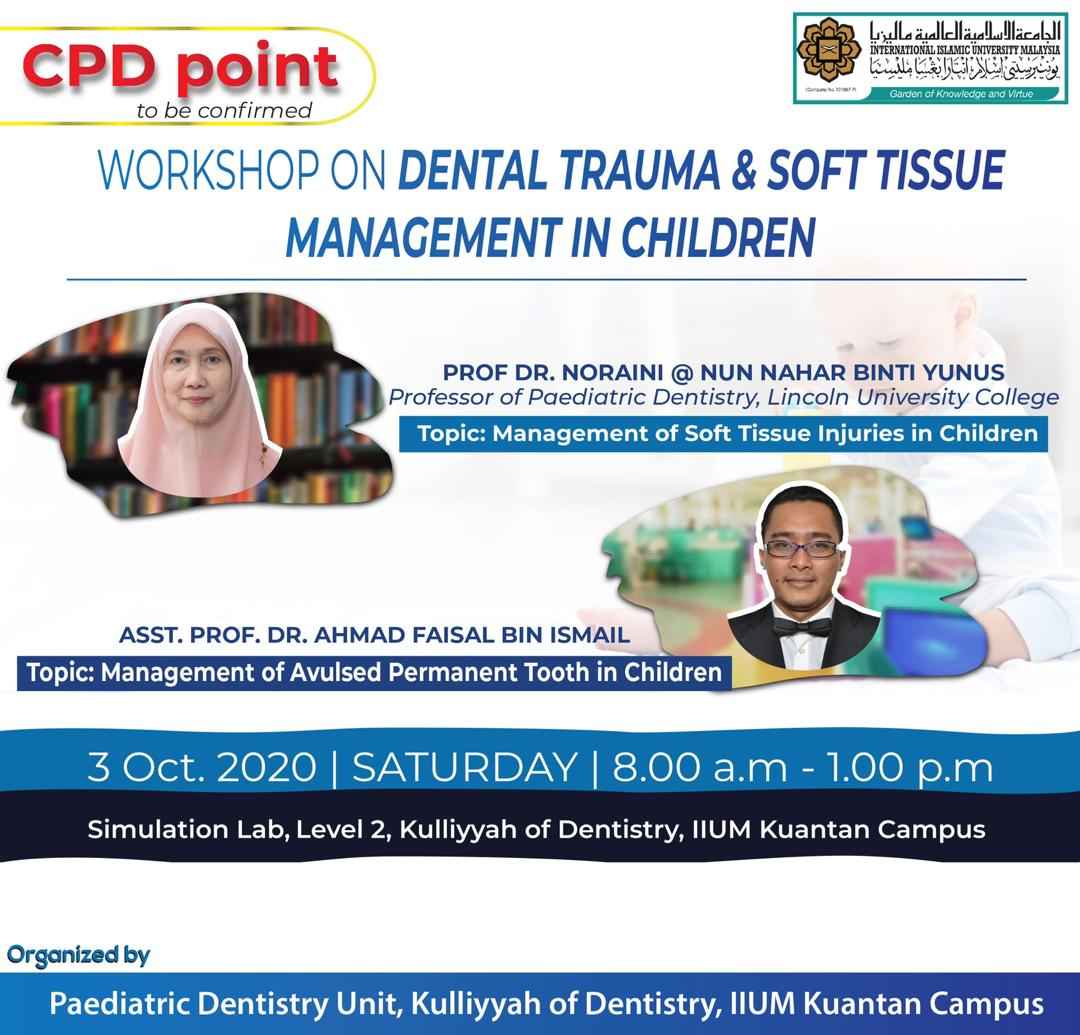 Workshop on Dental Trauma & Soft Tissue Management in Children