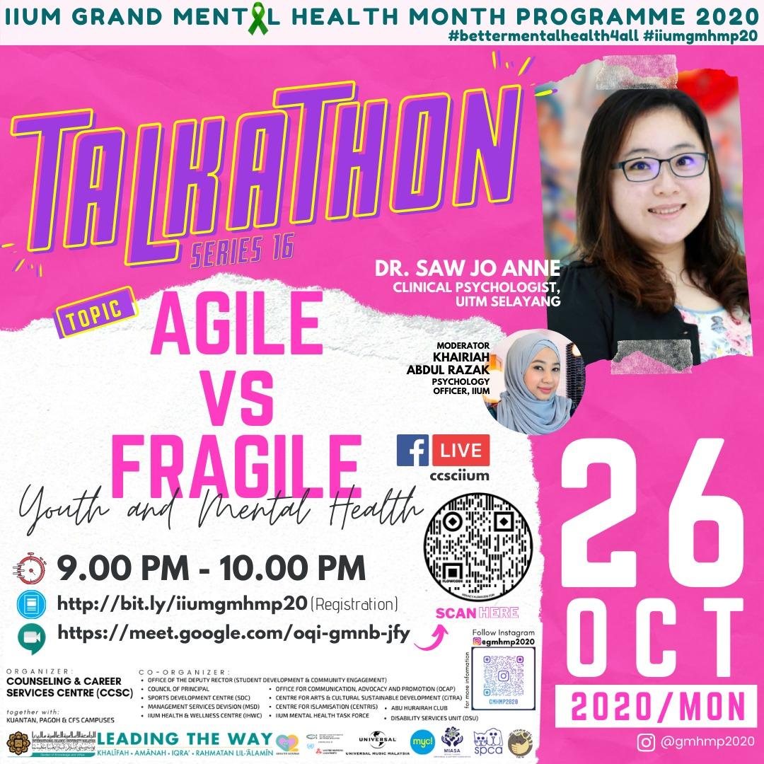 GMHMP 2020: TALKATHON 16 - AGILE VS FRAGILE