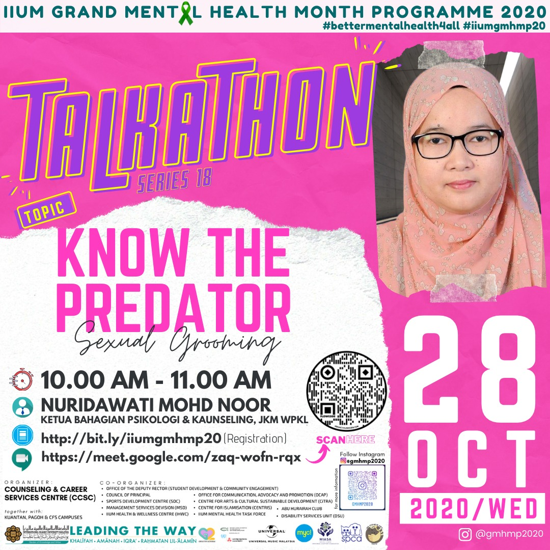 GMHMP 2020:  TALKATHON 18 - KNOW THE PREDATOR (SEXUAL GROOMING)