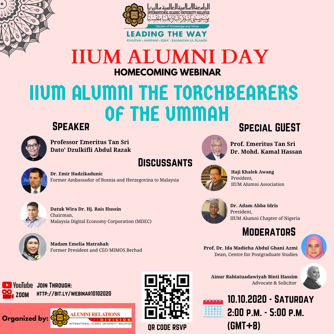 IIUM ALUMNI DAY : HOMECOMING WEBINAR