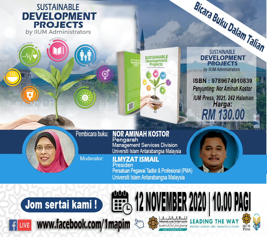 Book Talk: SUSTAINABLE DEVELOPMENT PROJECT by IIUM Administrators