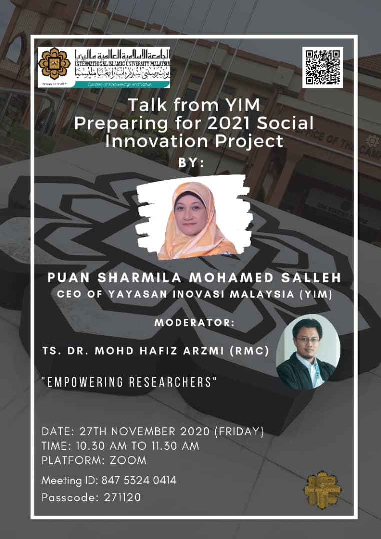 TALK FROM YIM: PREPARING FOR 2021SOCIAL INNOVATION PROJECT