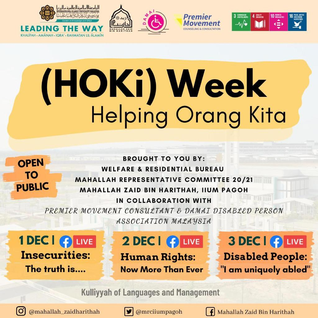 HOKi (Helping Orang Kita) Week