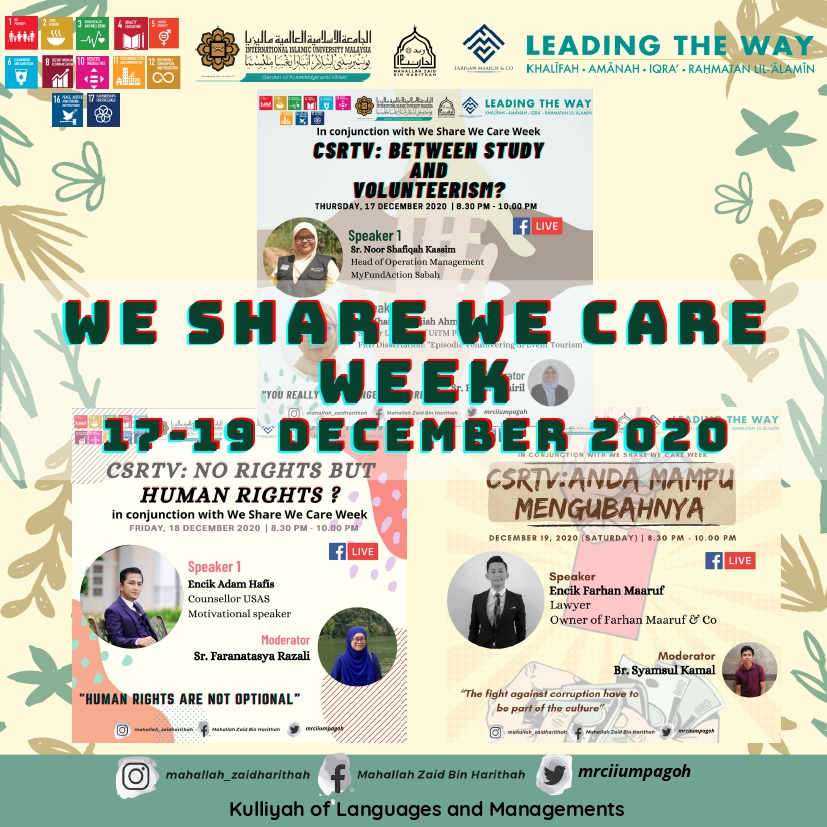 We Share We Care Week