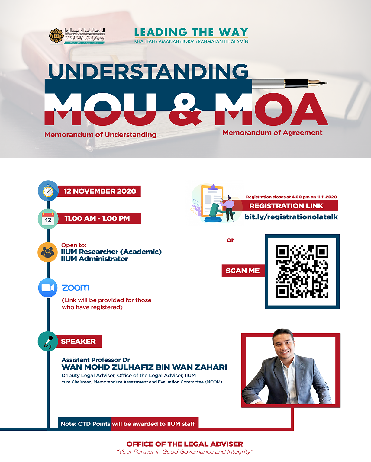 TALK ON UNDERSTANDING MOU & MOA