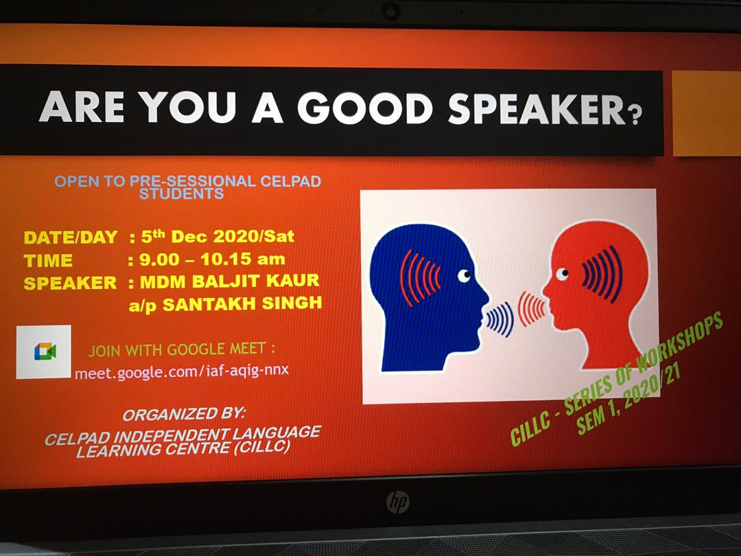 WORKSHOP SFErA- CILLC: Are You a Good Speaker?