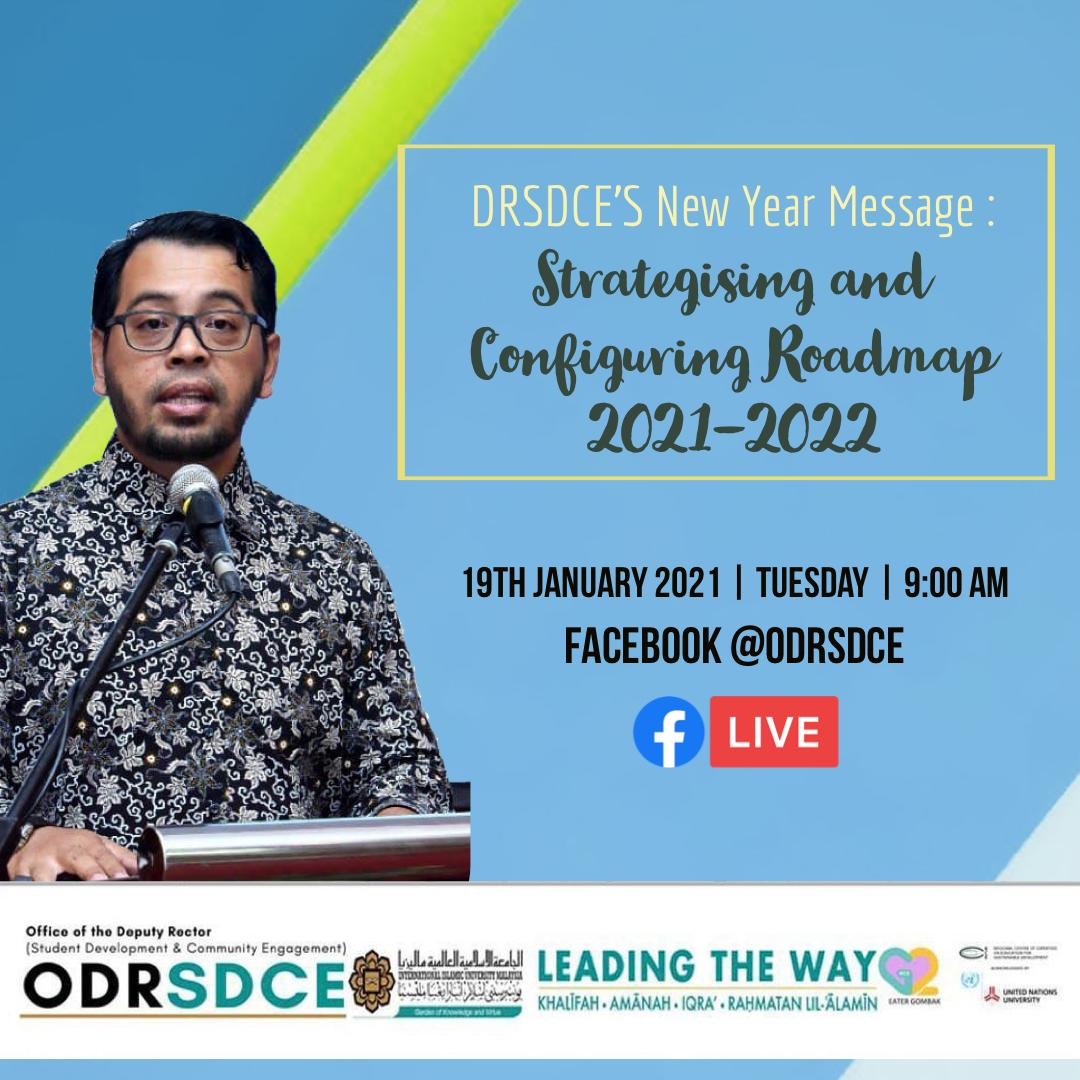 DRSDCE'S NEW YEAR MESSAGE : STRATEGISING AND CONFIGURING ROADMAP 2021 - 2022