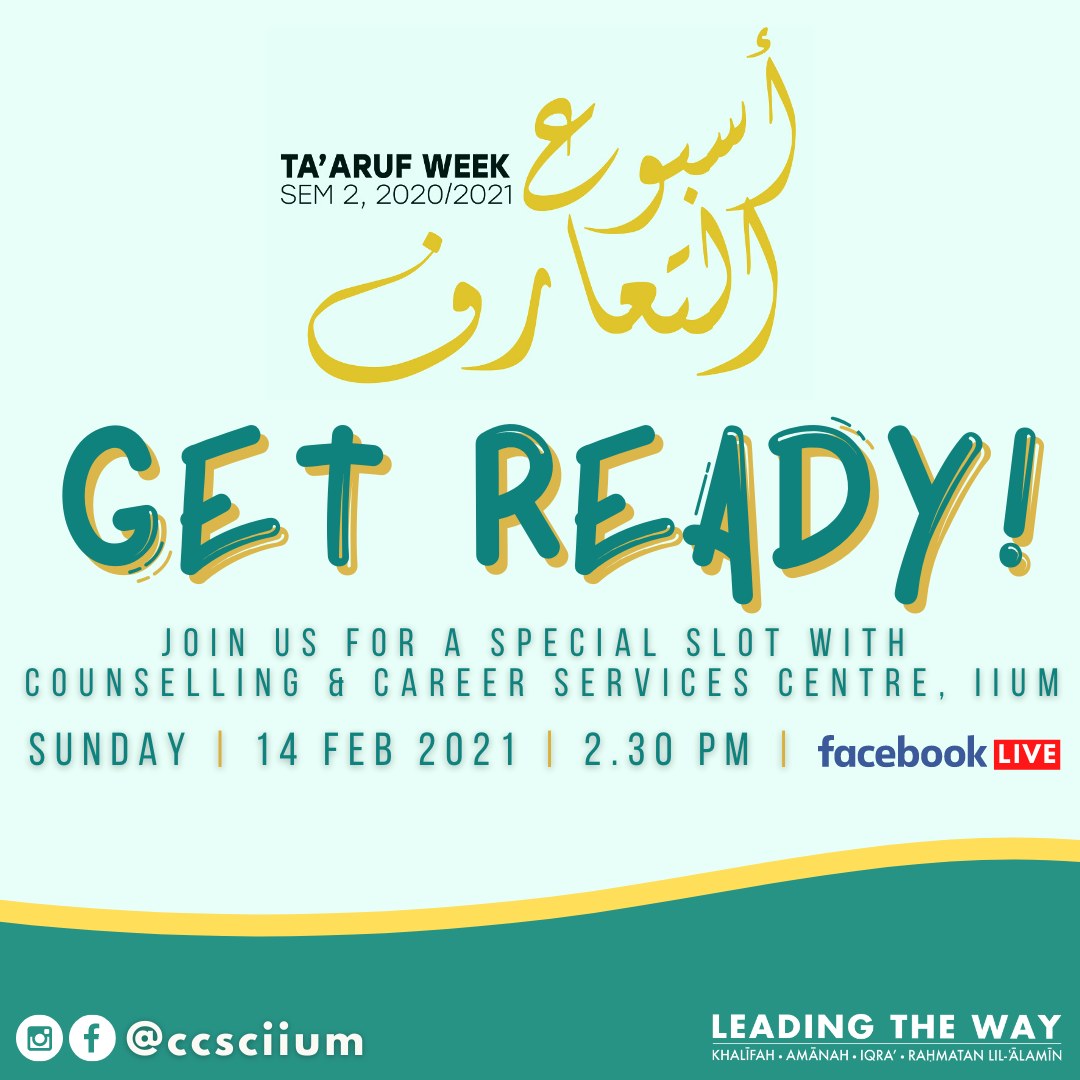 GET READY! A SPECIAL SLOT FOR NEW STUDENTS SEM 2, 2020/2021 WITH CCSC