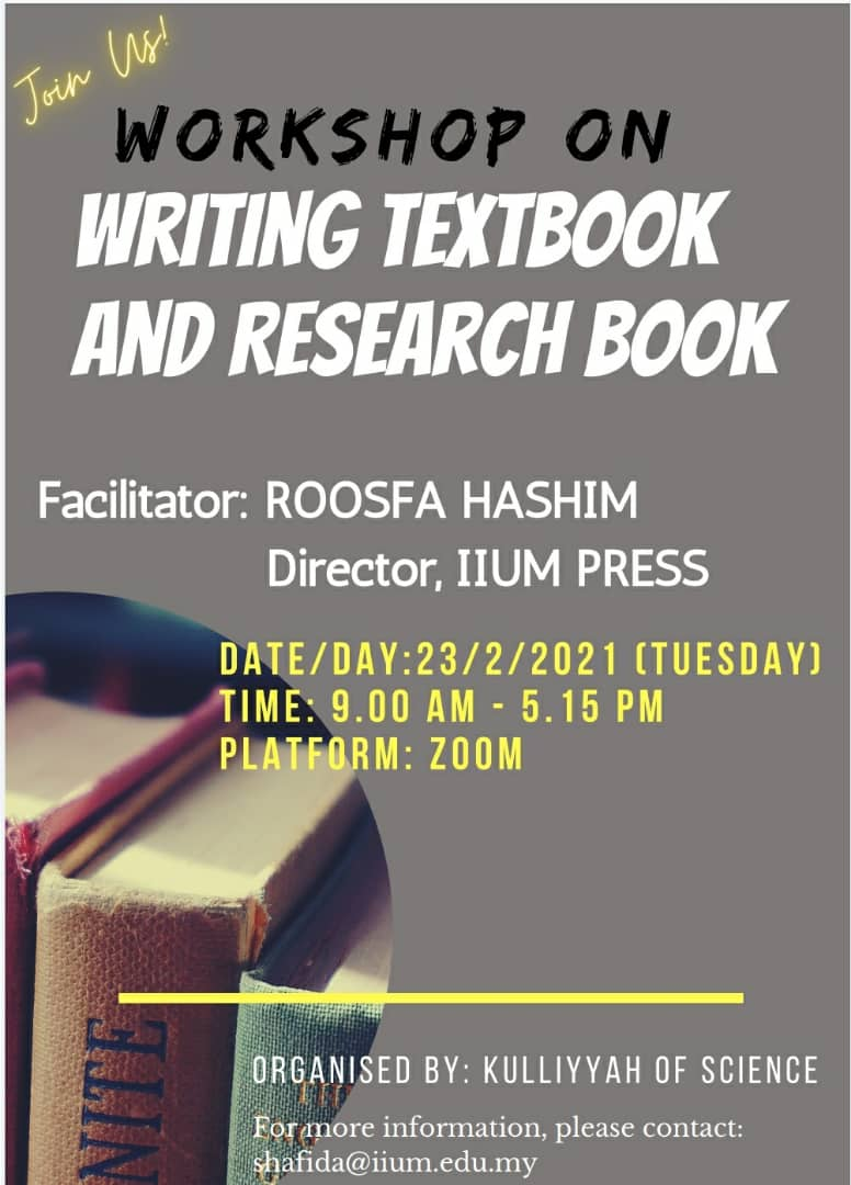 WORKSHOP ON WRITING TEXTBOOK & RESEARCH BOOK