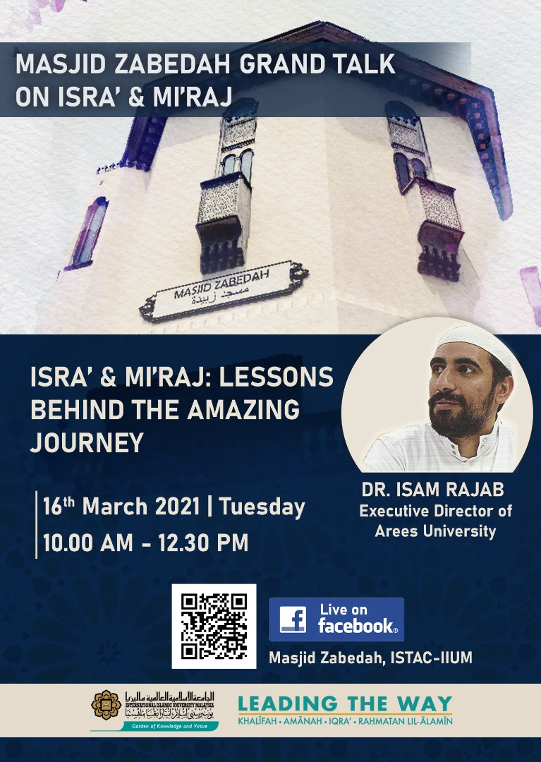 MASJID ZABEDAH GRAND TALK ON ISRA' & MI'RAJ