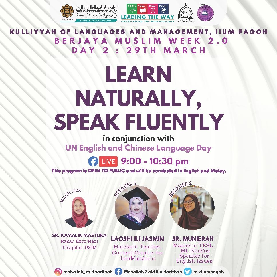 Berjaya Muslim Week 2.0 : Learn Naturally, Speak Fluently