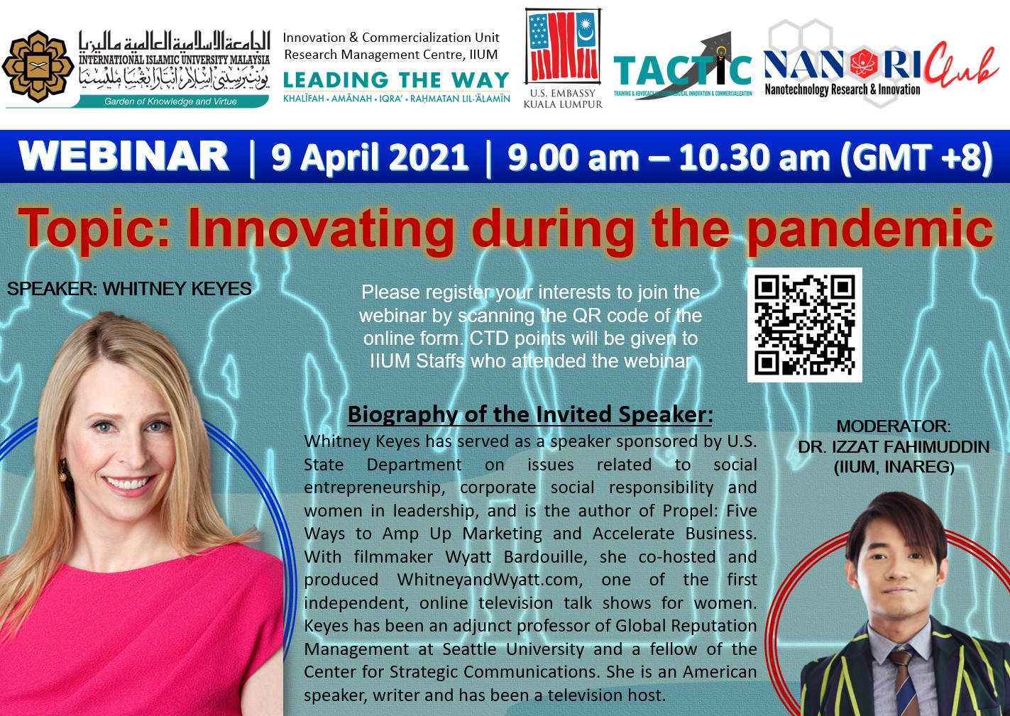 INVITATION TO ATTEND A WEBINAR: INNOVATING DURING THE PANDEMIC