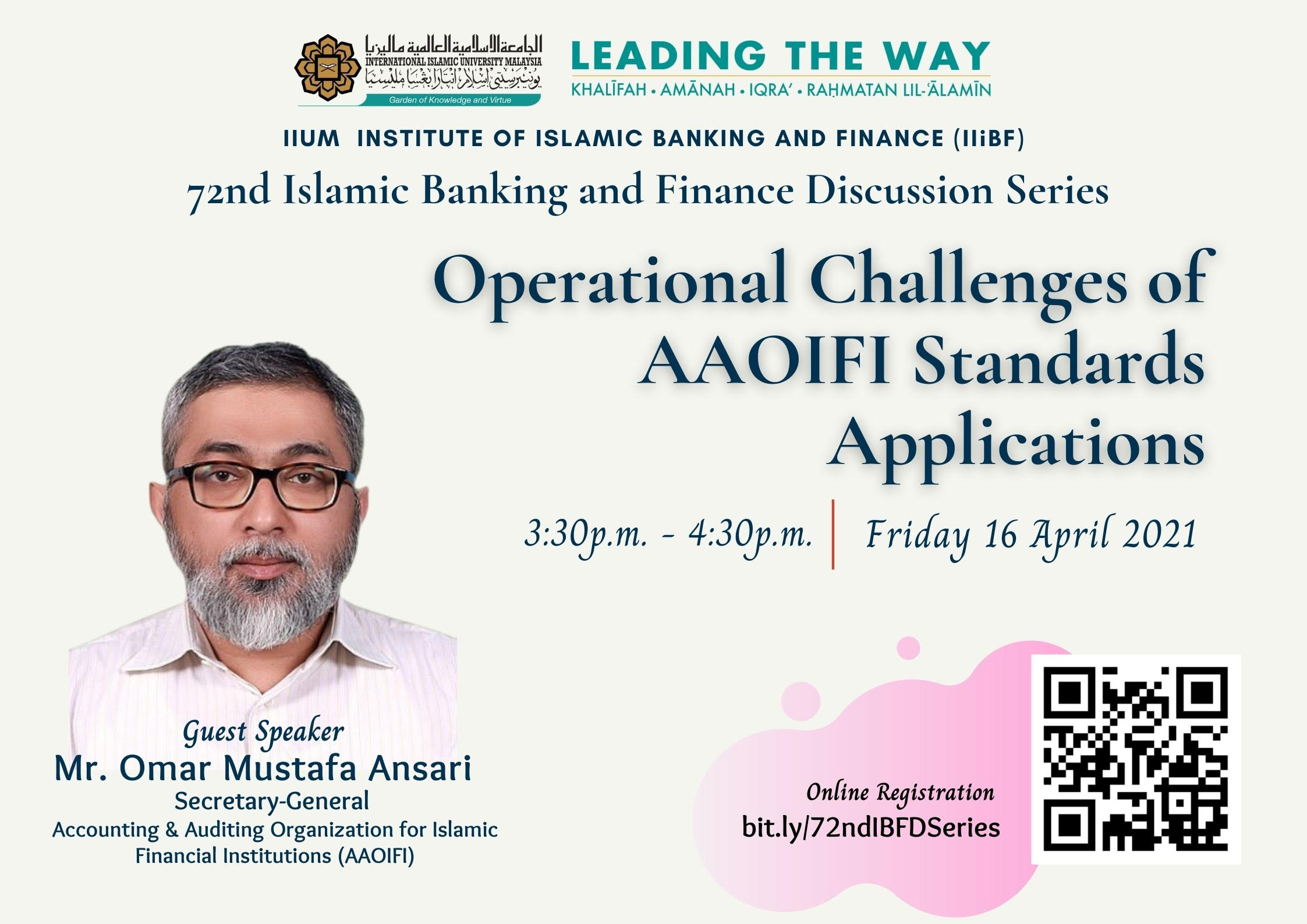 72nd Islamic Banking And Finance Discussion Series