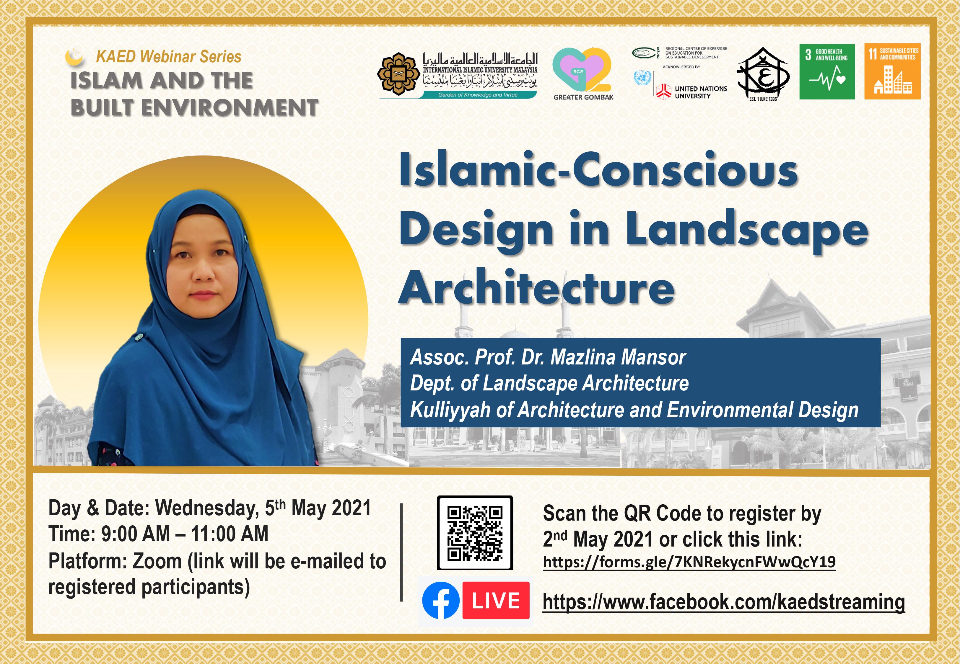 Islamic-Conscious Design in Landscape Architecture Webinar