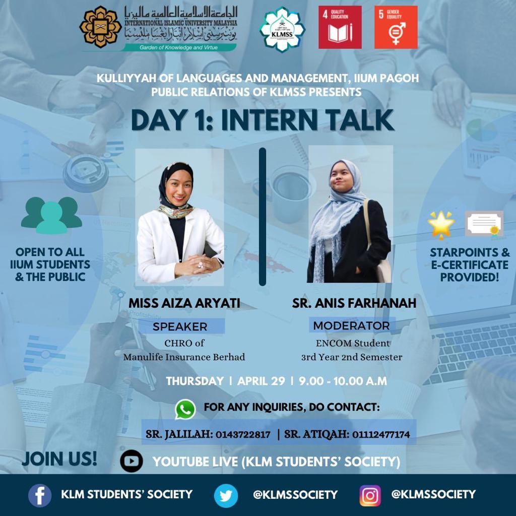 Intern Talk