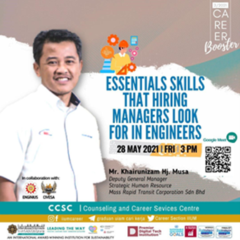 CAREER BOOSTER 2/2021: Essential Skills that Hiring Managers Look for in Engineers