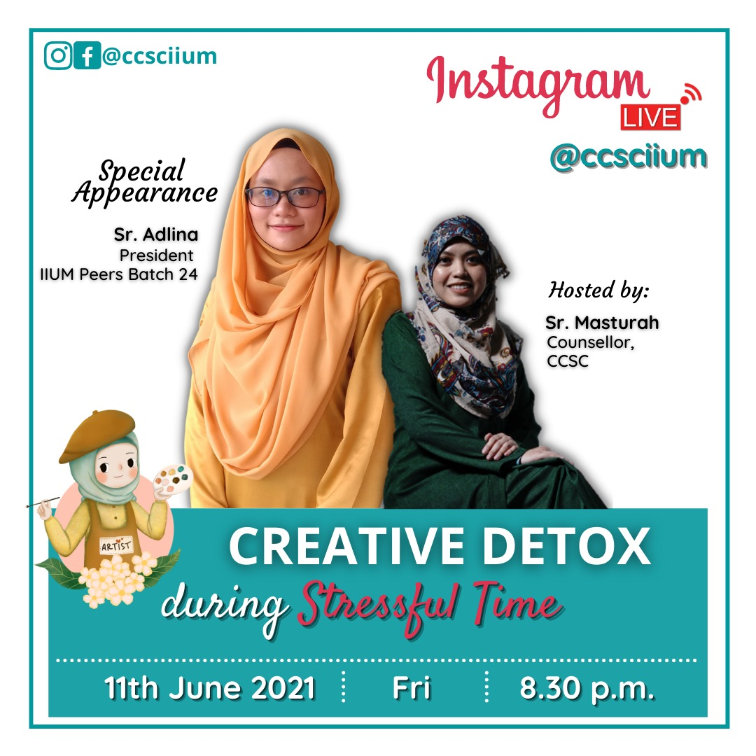 CREATIVE DETOX DURING STRESSFUL TIME