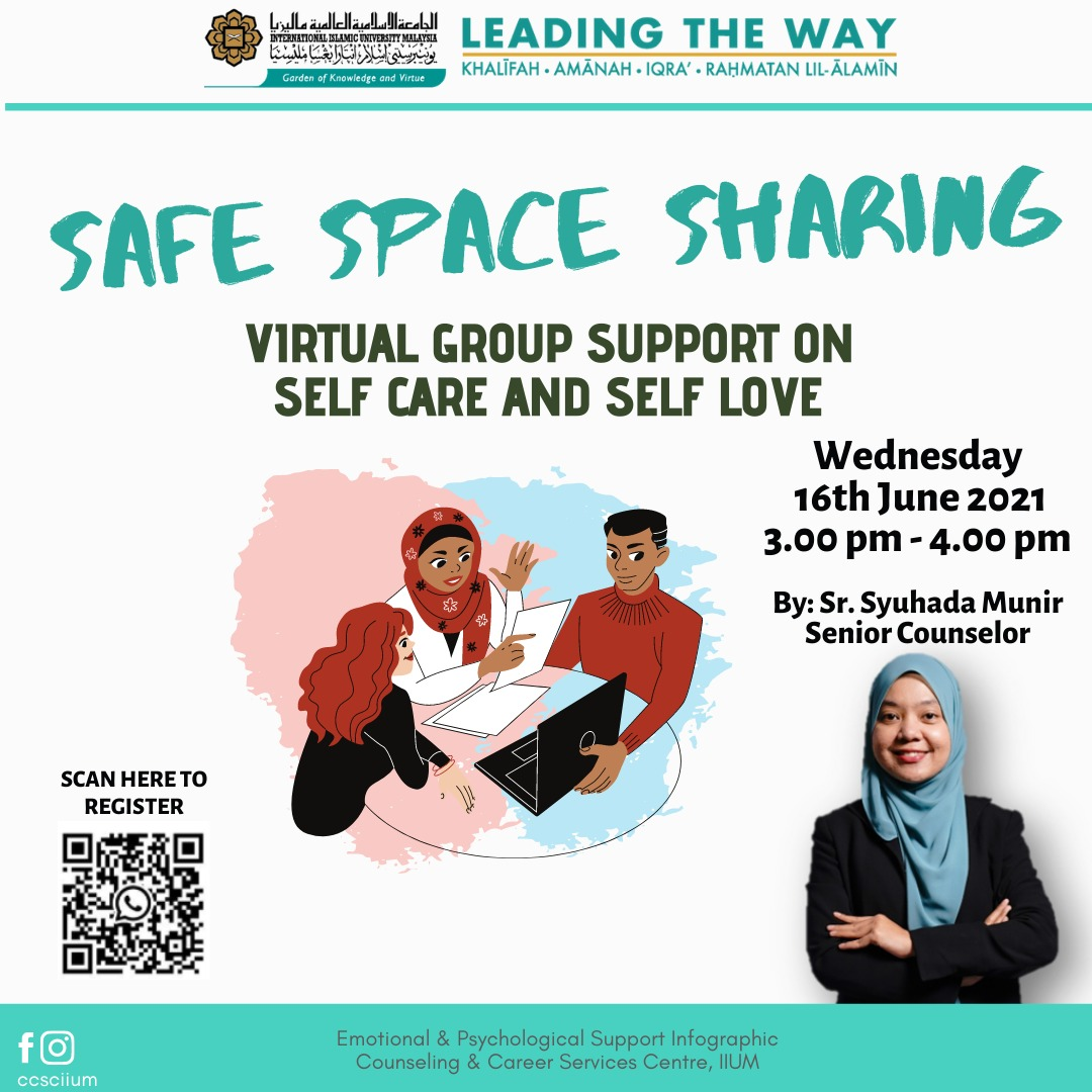 SAFE SPACE SHARING: Virtual Group Support on Self Care and Self Love