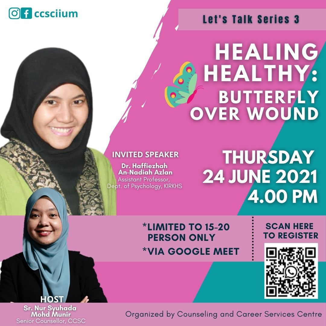 Let's Talk Series 3: HEALING HEALTHY - BUTTERFLY OVER WOUND