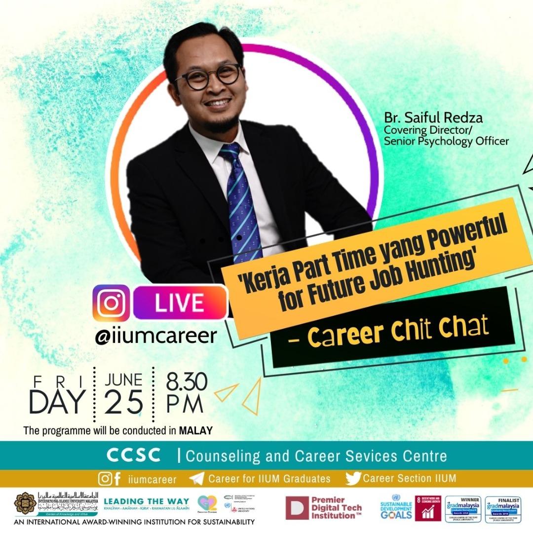 "Career Chit-Chat 5/2021: ""Kerja Part-time yang Powerful for Future Job Hunting"""