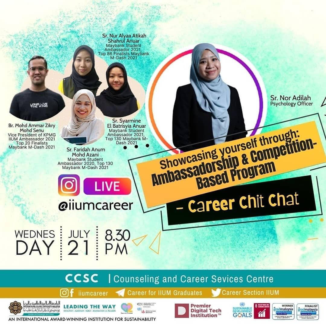 """Career Chit-Chat: """"Showcasing Yourself through: Ambassadorship and Competition-based Programme"""""""