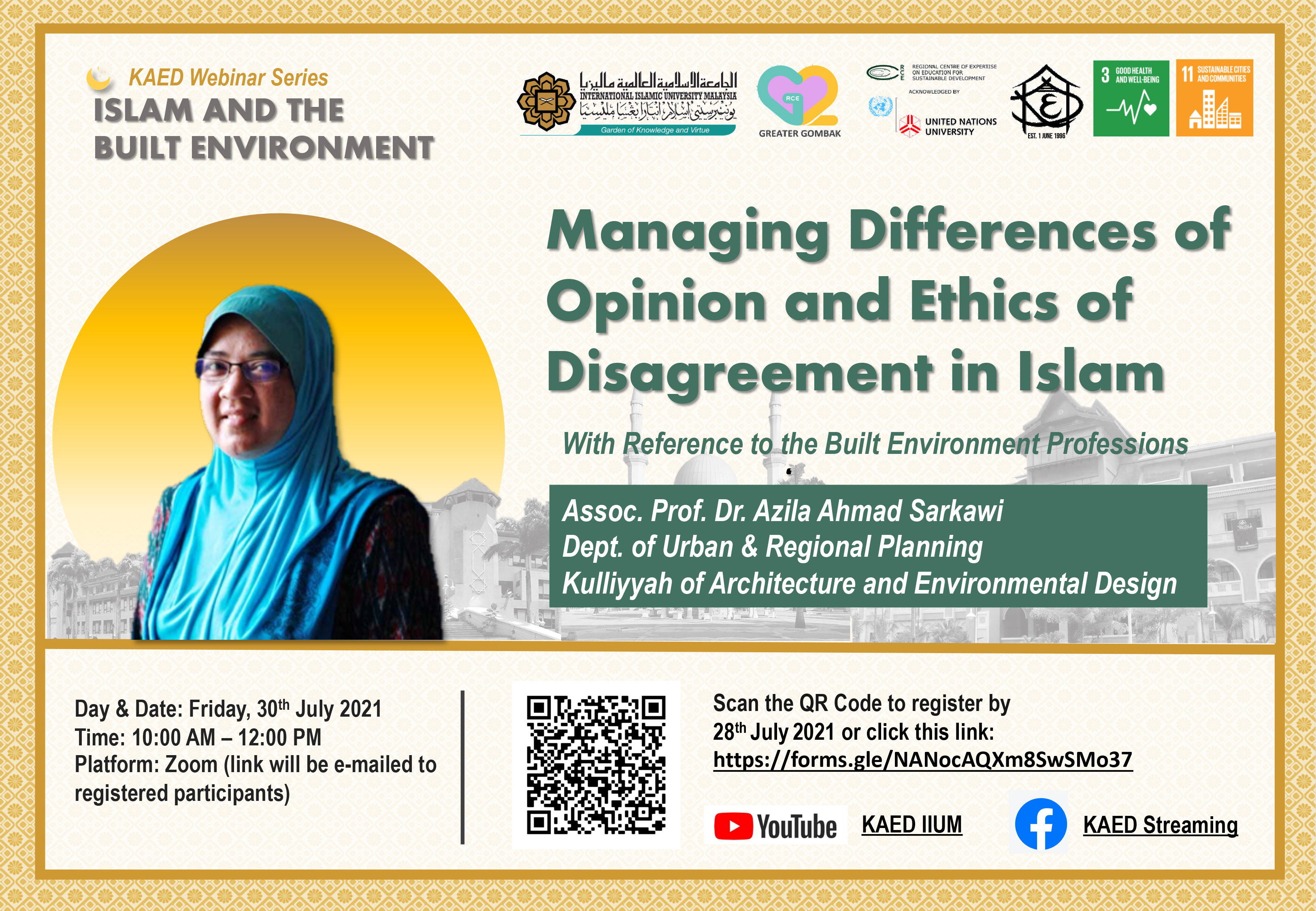 KAED IBE Webinar 2021: Managing Differences of Opinion and Ethics of Disagreement in Islam