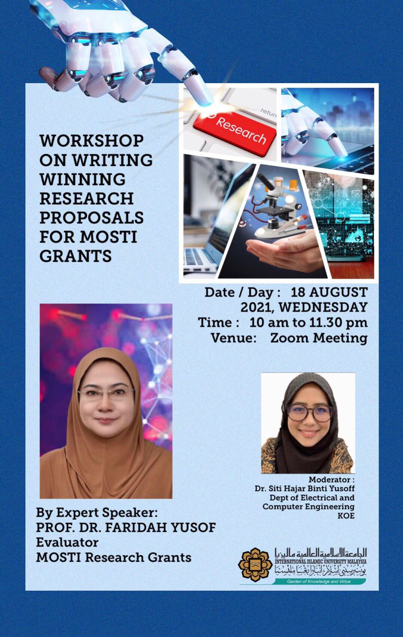WORKSHOP ON WRITING WINNING RESEARCH PROPOSALS FOR MOSTI GRANTS