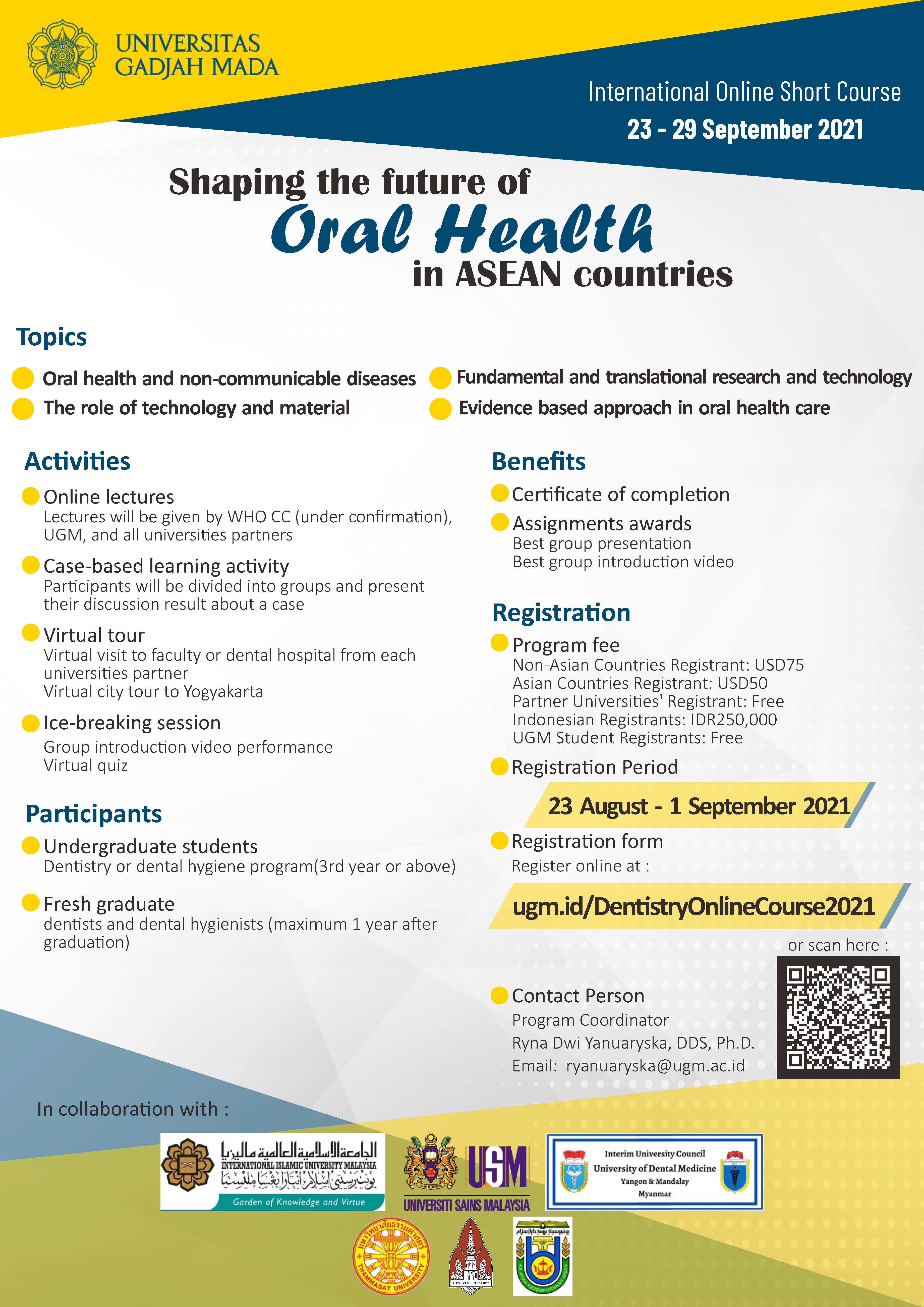 International Online Course: Shaping the Future of Oral Health in ASEAN Countries
