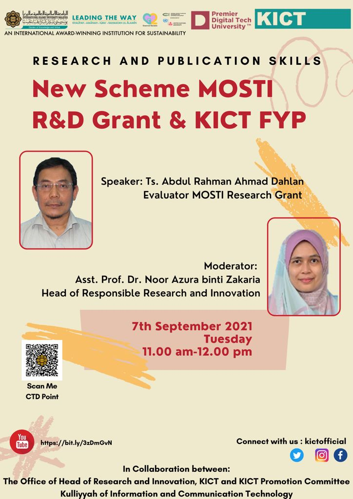 New Scheme MOSTI R&D & KICT FYP