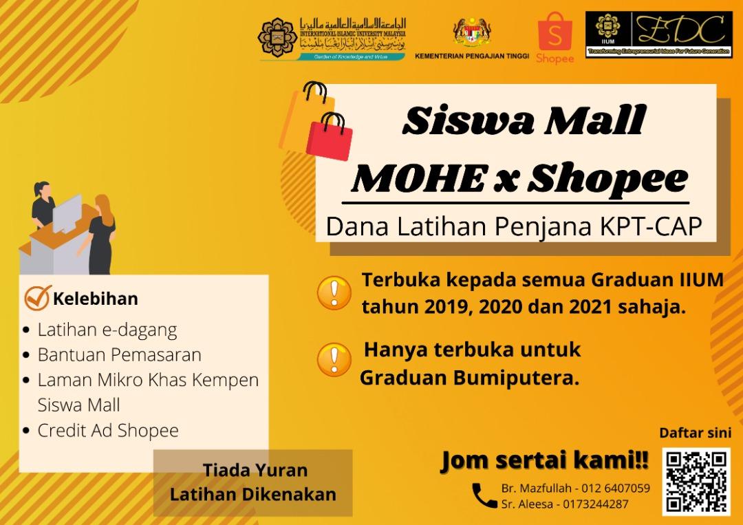 Siswa Mall MOHE x Shopee (Dana Latihan Penjana KPT-CAP)