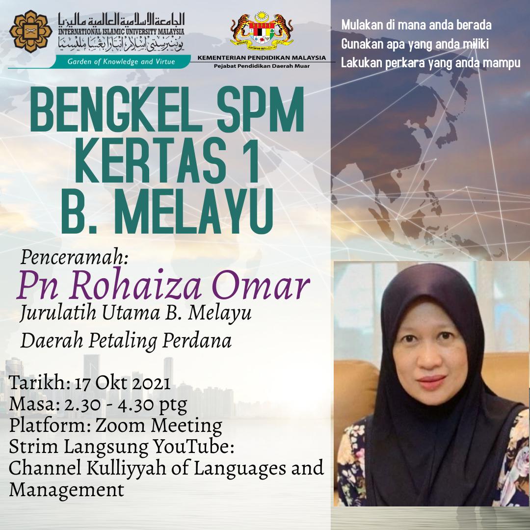 Bengkel SPM Kertas 1 Bahasa Melayu