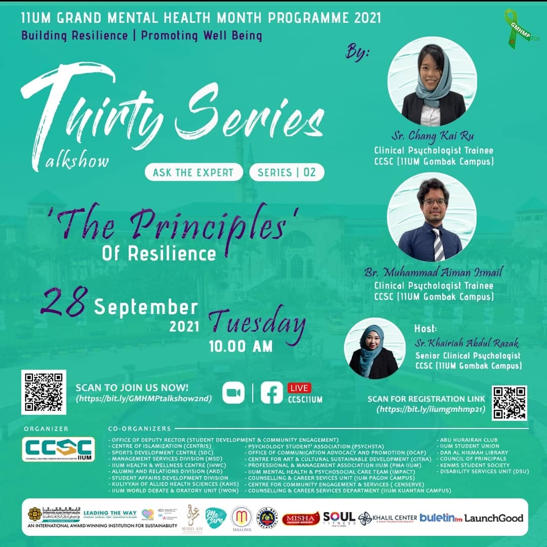 GMHMP 2021: THIRTY SERIES TALKSHOW [The Principles of Resilience: Series 02]