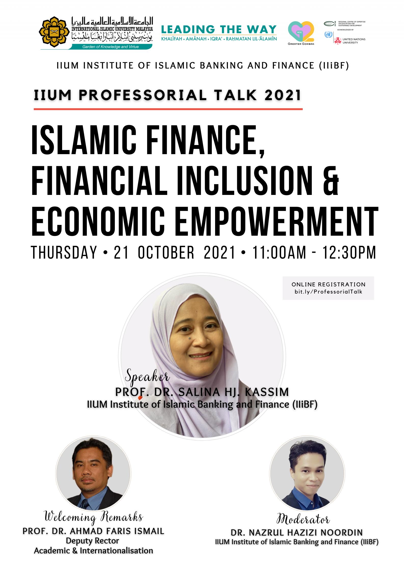 IIUM Professorial Talk 2021