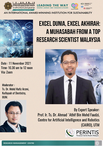 EXCEL DUNIA, EXCEL AKHIRAH: A MUHASABAH FROM A TOP RESEARCH SCIENTIST MALAYSIA
