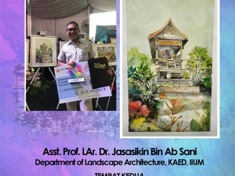 Congratulations to Department of Landscape Architecture's team achievement in Royal Floria Putrajaya 2018