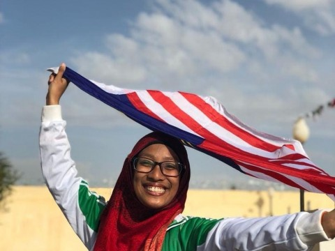 Congratulations to Sr. Iman Binti Md Yusof  for winning the Bronze Medal in Run Competition in University Hammah Lakhdar, Algeria
