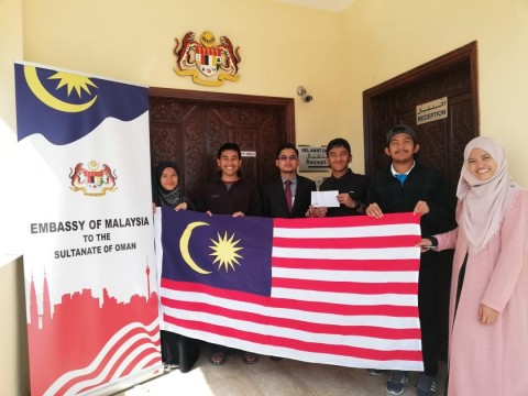 KLM Students in Nizwa University visiting Malaysia embassy in Oman