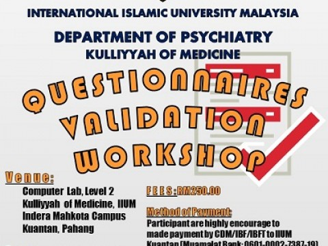 Questionnaires Validation Workshop