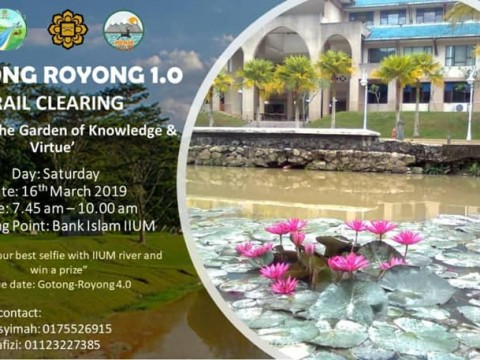 Gotong Royong 1.0 - river trail cleaning in IIUM