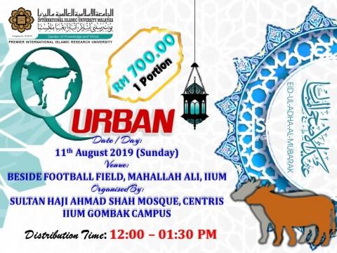 IIUM IBADAH QURBAN PROGRAMME 1440H/ 2019